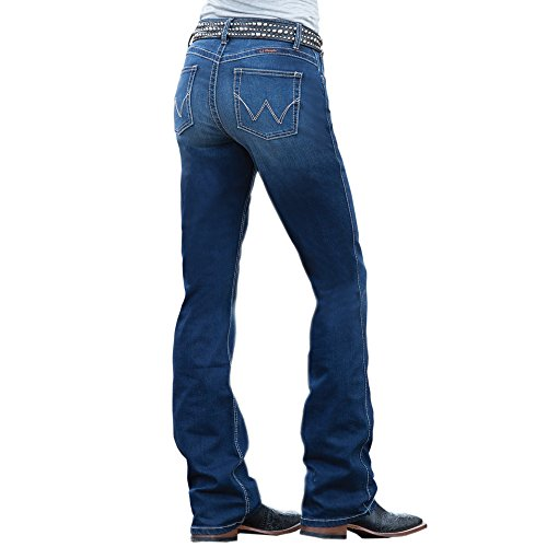 Boots Clothes Western (Wrangler Women's Plus-Size Ultimate Riding Q-Baby Boot Cut Jean Pants, Dark Blue, 18WX32)