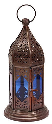 starzebra-mothers-day-gifts-moroccan-lantern-9-inch-handmade-hanging-tea-light-holder-in-metal-blue-