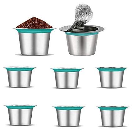 Réutilisable filtre à café avec cuillère mesure différentes couleurs