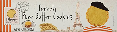 Pierre Biscuiterie French Butter Cookies 4.41 Oz. Box Pack of 3 (French Butter Cookies With Lemon And Almond Recipe)