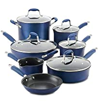 Anolon Advanced 12-Piece Hard-Anodized Non-Stick Cookware Set (Indigo)