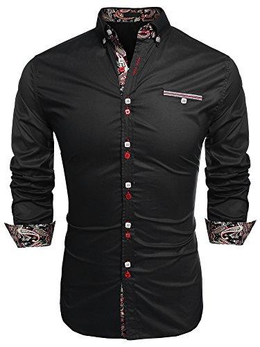 Jingjing1 Men Button Down Shirt, Casual Long Sleeve Formal Dress Shirts Slim Fit Fashion Tops
