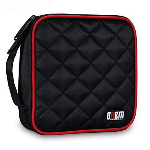 - BUBM Car Home Travel Portable 32 Capacity CD/DVD Wallet Case Storage Bag (Black)