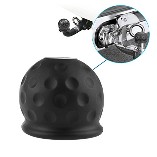 Great Features Of Newseego 50mm Trailer Black Rubber Towball Protect Tow Bar Ball Case Car Hitch Cov...