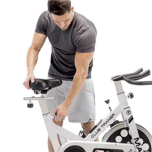 Marcy XJ-5801 Club Revolution Indoor Home Gym Exercise Bike Trainer, White/Black by Marcy (Image #5)