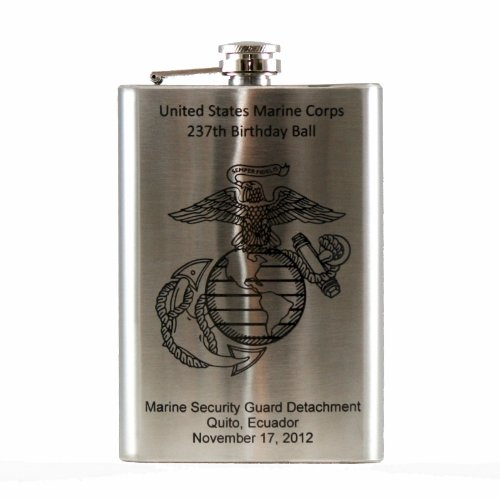 Personalized 8oz Flask Laser Engraved product image
