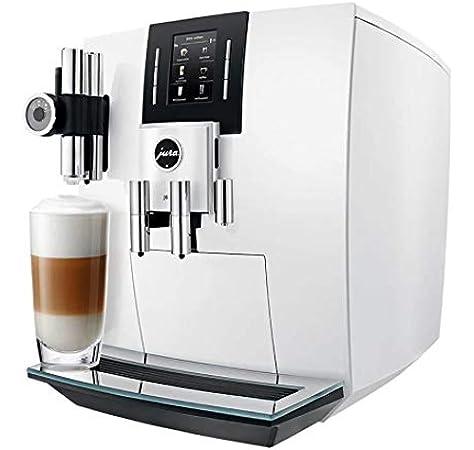 JURA J6 Independiente Máquina espresso Blanco 2,1 L 16 tazas Totalmente automática - Cafetera (Independiente, Máquina espresso, 2,1 L, Molinillo integrado, 1450 W, Blanco): Amazon.es: Hogar