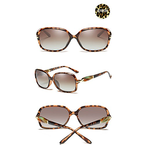 pour Face Soleil Small Frame Polarized pour TangMengYun Femmes Lunettes Color Lunettes de Small Soleil Grain Elegant Black Conduire de Leopard xqvwRYw