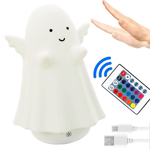 Advertising Tumbler - 16 Colors LED Light Tumbler Cordless Night Lights with Remote and Touch Control Multifunctional Angel Shape USB Rechargeable light RGB Color Changing Lamp for Kids Room Baby Nursery Bedroom Decor