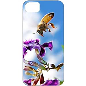DIY Apple iPhone 5S Case Customized Gifts Personalized With Animals Bee On Flower Widescreen Wide Birds Animals...
