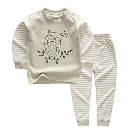 - YANWANG 100% Organic Cotton Baby Boys Girls Pajamas Set Long Sleeve Sleepwear(3M-5T) (Tag60/2-3T, Pattern 4)