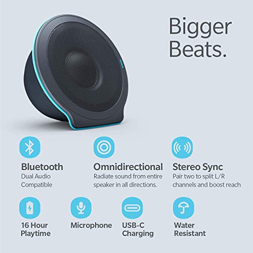 POW UNA X Collapsible Portable Bluetooth Speaker – 16-Hour Playtime, 20W 360° Stereo Sound, 100ft Range | Wireless…