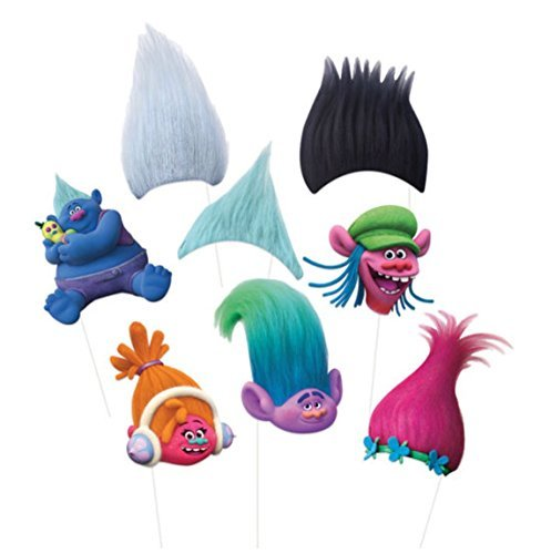 Trolls Photo Props  Tattoos   Stickers Party Pack