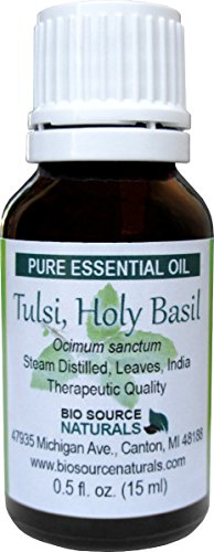 Holy Basil Essential Oil 15 ml Aromatherapy for Headaches & Inflammation & Chronic Fatigue