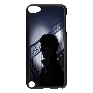 Ipod Touch 5 Case, Funny Cute Sherlock Silhouette Case For Ipod Touch 5 {Black}