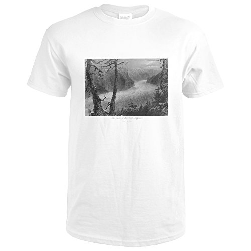 Ontario, Canada - View Of The Banks Of The Niagara River Below The Falls (Premium White T-Shirt XX-Large)