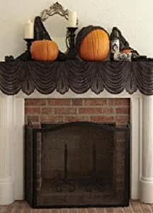 "Heritage Lace Halloween Phantom Drape Mantle Scarf 60 x 20"""
