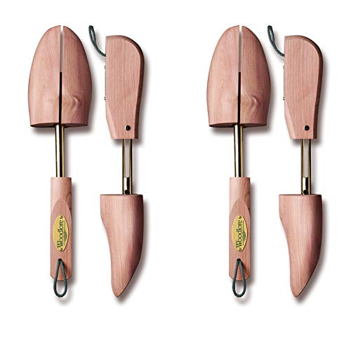 Woodlore Men's 2 Pair Adjustable Cedar Shoe Trees Cedar Shoe Trees