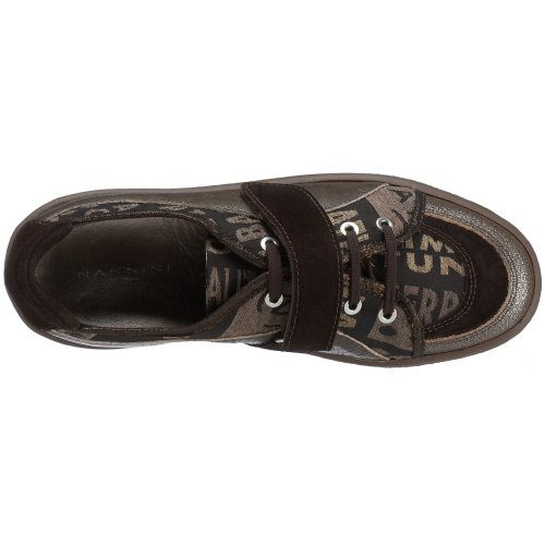 Nannini Sneaker, Stoff mit Leder, dunkelbraun