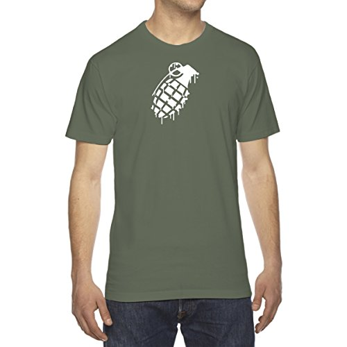 Men's Grenade Drip Splatter Snowboard T-Shirt - X-Large MILITARY ()