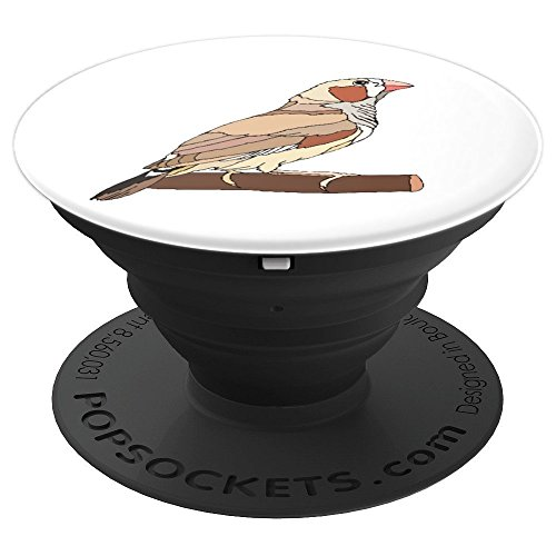 Zebra Finch Bird Animal Drawing Gift - PopSockets Grip and Stand for Phones and Tablets