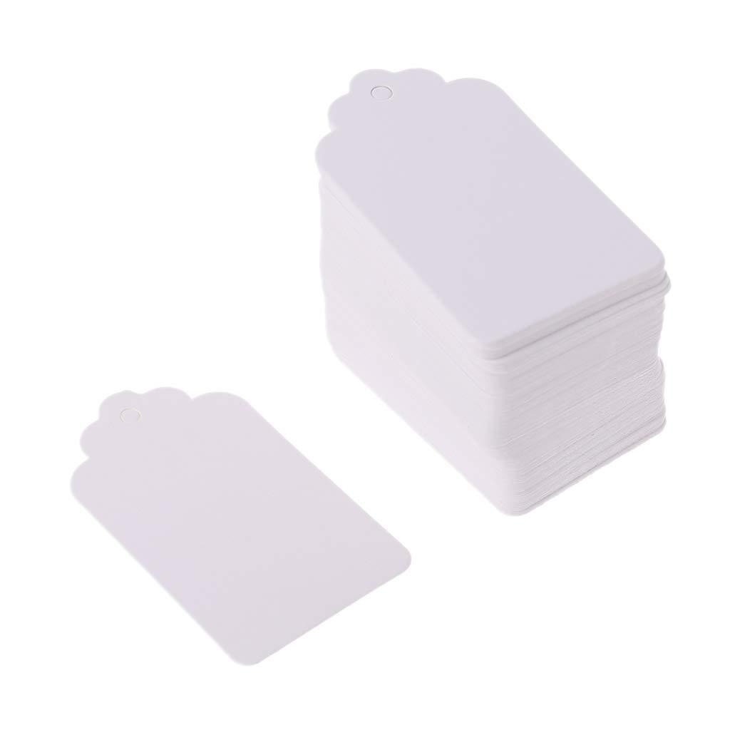 etiquetas de precios etiquetas de regalo de boda Yuaierchen 100 etiquetas de papel kraft vintage en blanco para colgar etiquetas de bricolaje