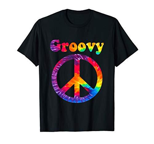 Tie Dye Colors Peace Sign Hippy Costume Shirt Men Women -