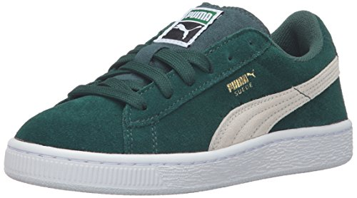 PUMA Suede Ps Sneaker (Little Kid/Big Kid), Ponderosa Pine/Birch, 1 M US Little Kid