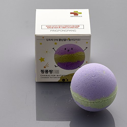 Character Bath ([MissPlus] PingPongPang Character Bath Bomb with Surprise Toys Inside - Fun & Safe for Kids (Laphy (Lavender Phytoncide)))