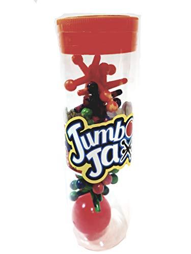 Kool N Fun Jumbo Jax 10 Neon Tye Dye Jacks With 1 Hi-Bounce Ball In/Outdoor - Jumbo Jacks