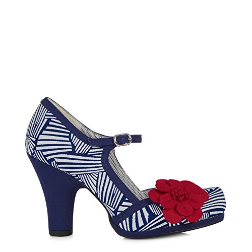 Protector Shoo Belle Mary Divino Navy Tanya Women's Ruby amp; Jane White Pumps Sole Free TPqgw6