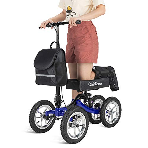 OasisSpace Damped All Terrain Knee Walker Scooter-with