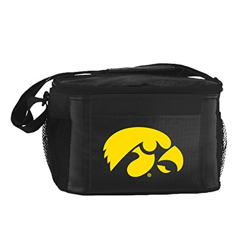 Iowa Hawkeyes Tailgate Cooler (New NCAA College 2014 Team Color Logo 6 Pack Lunch Tote Bag Cooler - Pick Team (Iowa Hawkeyes))
