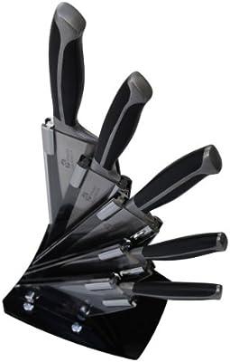 Pradel Excellence - Bloque de Cuchillos en Abanico con Cuchillo de Cocina, Cuchillo de precisión, Cuchillo Profesional, Cuchillo de trinchar, Cuchillo ...