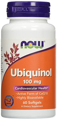 NOW Supplements, Ubiquinol 100 mg, High Bioavailability (The Active Form of CoQ10), 60 Softgels