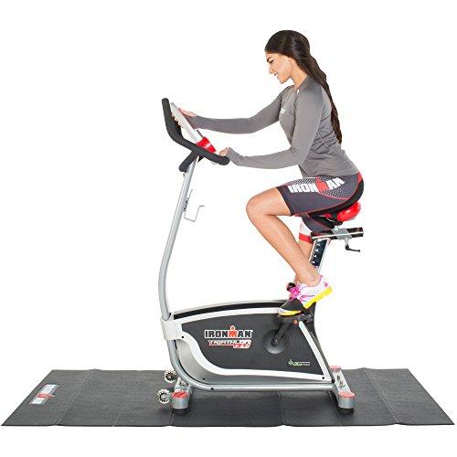 IRONMAN Triathlon X-Class 310 Smart Technology Upright Bike with Bluetooth Apps, Air Soft Seat and BONUS Equipment Mat