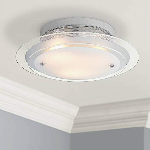 Chrome Flush Elbow - Modern Ceiling Light Flush Mount Fixture Chrome 15 3/4