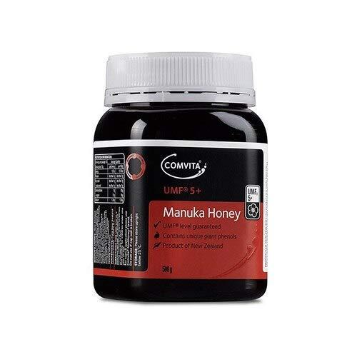 Comvita Certified UMF 5+ (MGO 83+) Raw Manuka Honey I New Zealand's #1 Manuka Brand I Authentic, Wild, Unpasteurized, Non-GMO Superfood for Daily Wellness I 17.6 oz
