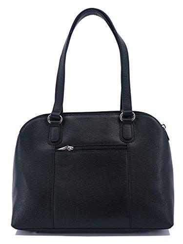 porté Hexagona épaule en Sac A4 Noir de Pretty vachette cuir AqOg5qwrn