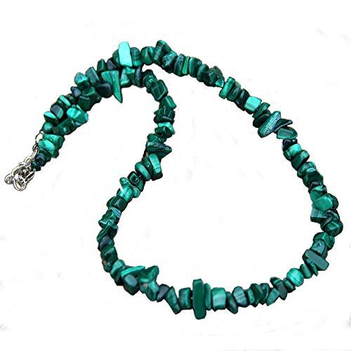 (TURTLEDOVE Raw Gemstone Necklace Natural – Elegant Choker Necklace for Women – Raw Malachite Necklace (Malachite)