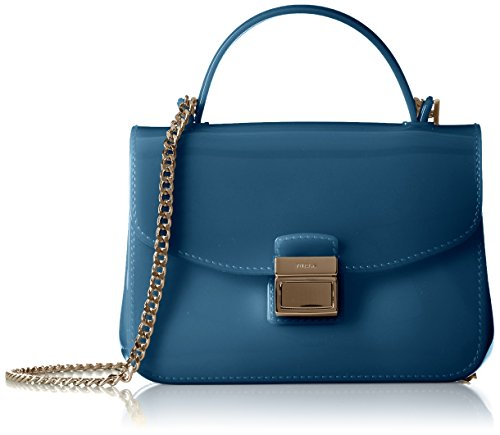 Furla Candy Sugar Mini Crossbody - Bolso bandolera mujer Blue (Dolomia)