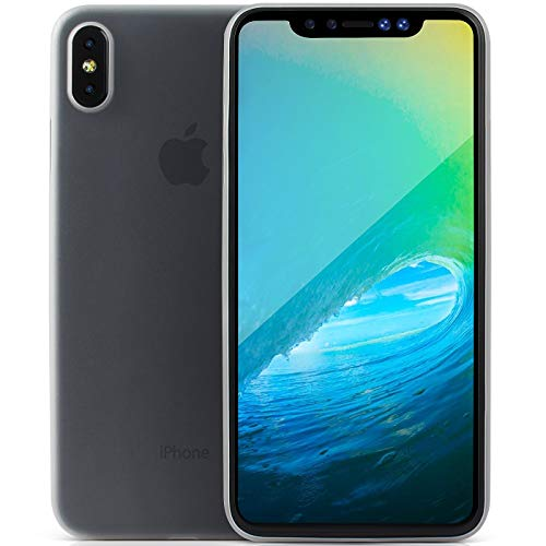 iPhone XS Max Case Cover with Ultra Slim and Light Protection with Frosted Clear Anti Fingerprint Finish for iPhone X S Max Plus 2018 by CUVR PREVENT PROTECT