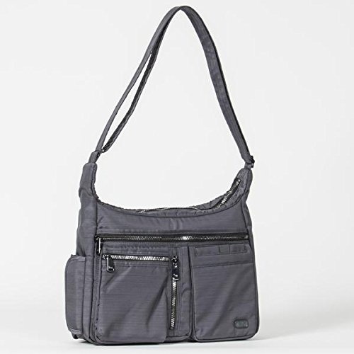 Lug Women's Double Dutch Cross-Body Bag, Brushed Grey, One Size (Lug Purses Handbags)
