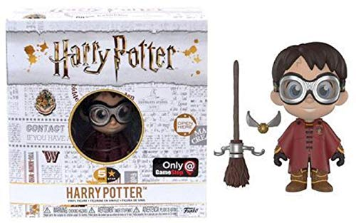 Funko Five Star Harry Potter with Quidditch Robes and Broom Exclusive Figure -