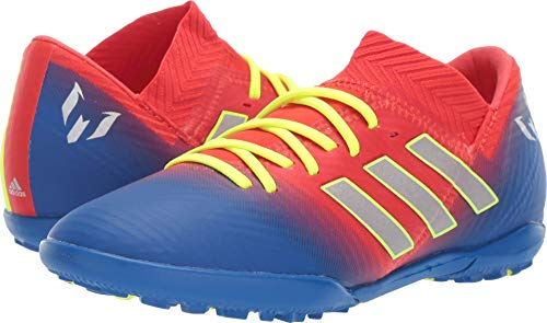 adidas Unisex Nemeziz Messi 18.3 Turf, Active red/Silver Metallic/Football Blue 3 M US Little Kid