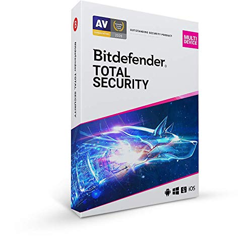 Bitdefender Total Security – 5 Apparaten | 1 Jaar | PC/Mac | Activatiecode met de post verstuurd
