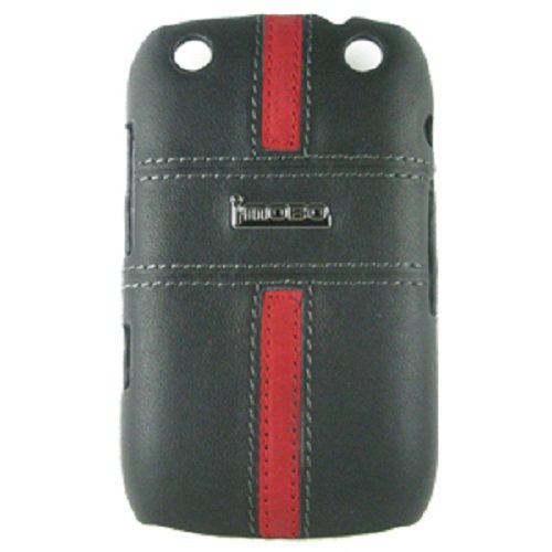 MOBO IM-HMC-HCBB9320-17BR Leather Cell Phone Case for Blackberry 9320 - 1 Pack - Retail Packaging - Black/Red