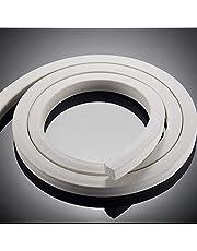 Chenweiwei Lcuiling- Seal Strip 3 meter siliconen schuim tape spons bar afdichting strip vierkant 3mm - 20mmX20 mm afdichtstrip op grote schaal gebruikt (kleur: wit, dikte: High20 X breedte 20 MM)