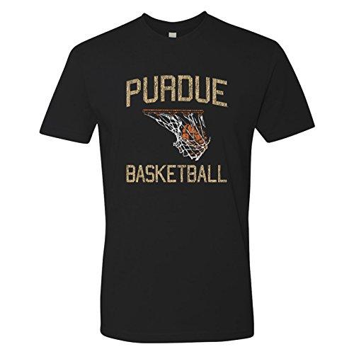 AS29 - Purdue Boilermakers Faded Retro Basketball T-Shirt Premium Cotton - 2X-Large - Black ()