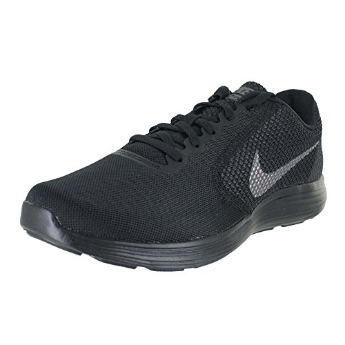 NIKE Men's Revolution 3 Running Shoe, Black/Metallic Dark Grey/Anthracite, 9.5 D(M) US